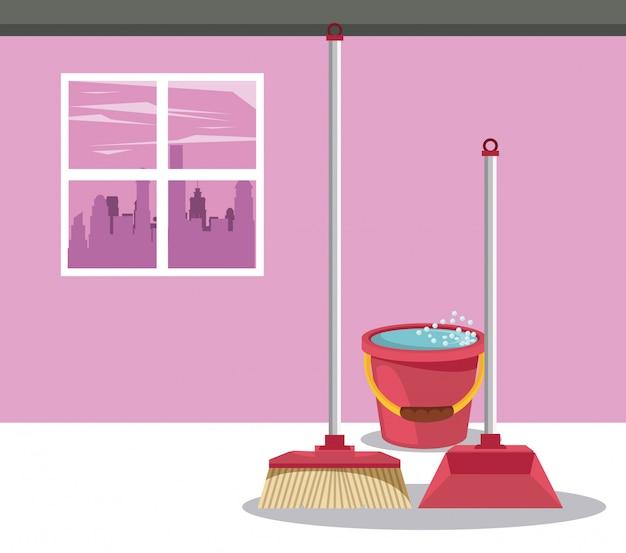 Reinigungsmittel für heim-cartoons
