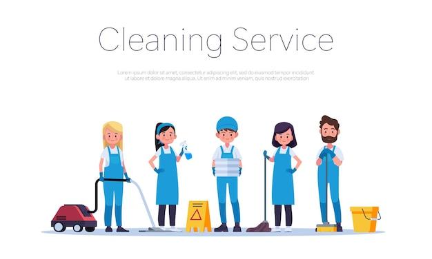 Reinigungsservice oder firmenabbildung