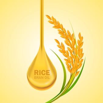 Reis großes qualitätsdesignkonzept.