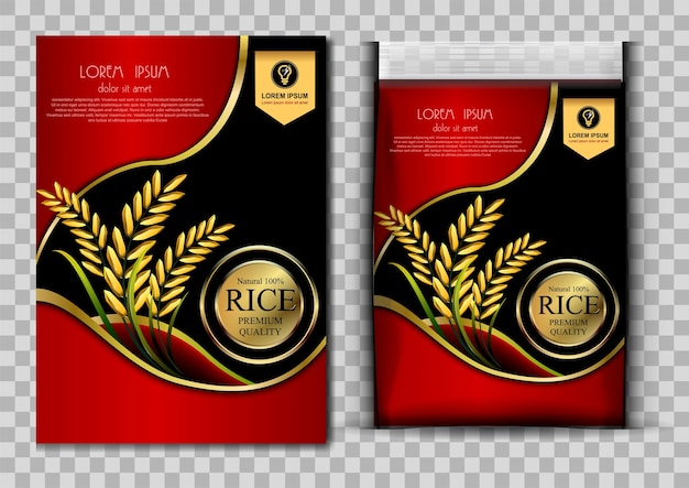 Reis-produkte und stoff-hintergrund-thailändische kunst