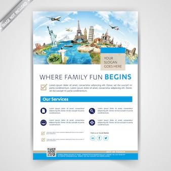 Reise-business-flyer-vorlage