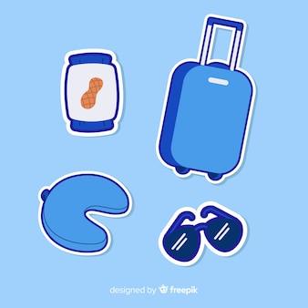 Reise-elemente-aufkleber-set