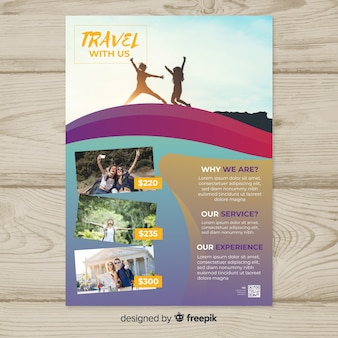 Reise-flyer-vorlage