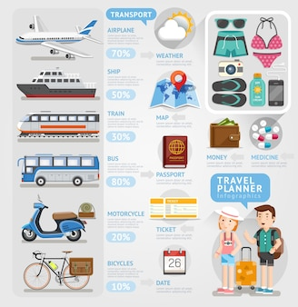 Reise-infografik-element.