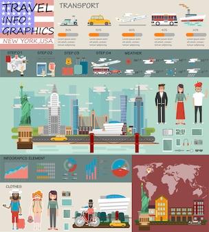 Reise infografik new york infografik