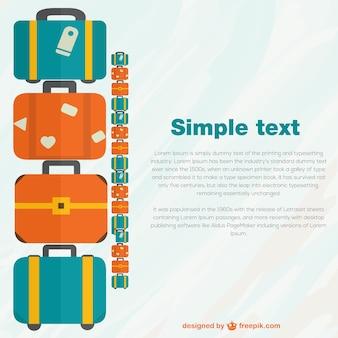 Reise-koffer-pack-vektor-vorlage