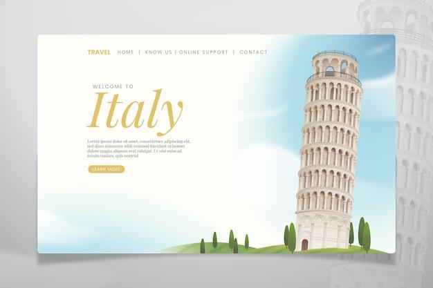 Reise-landing-page-vorlage