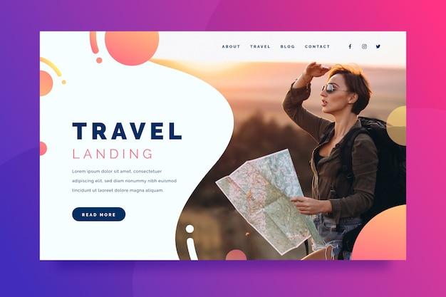 Reise-landingpage mit bild
