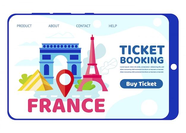 Reise nach frankreich, paris berühmte historische gebäude