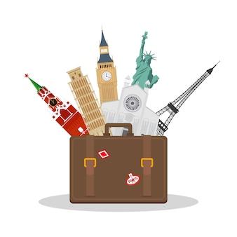 Reise- oder tourismuskonzept