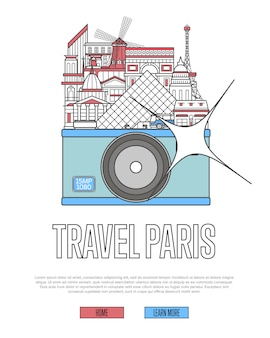Reise paris website mit kamera