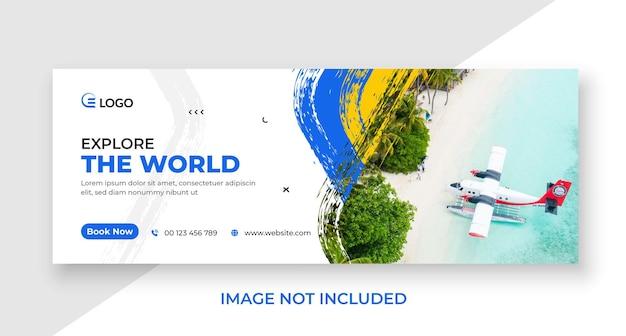 Reise-social-media-cover und web-banner-vorlage
