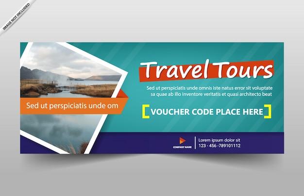Reise tour banner vorlage