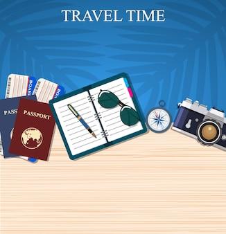 Reise- und abenteuervorlage