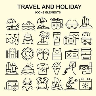 Reise- und feiertags-iconset