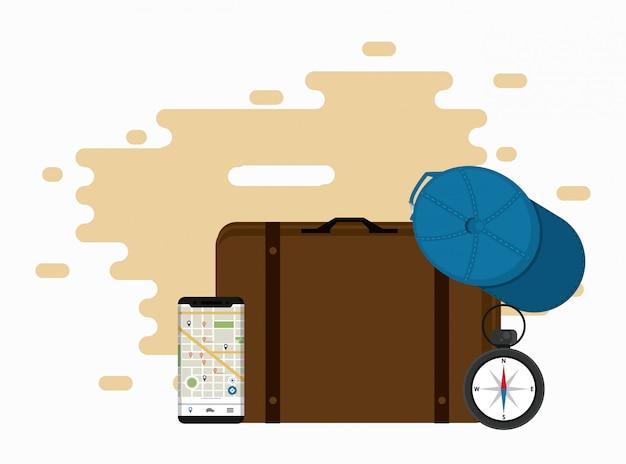 Reise- und tourismuselemente