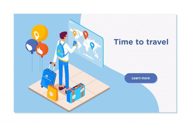 Reise- und tourismushintergrund