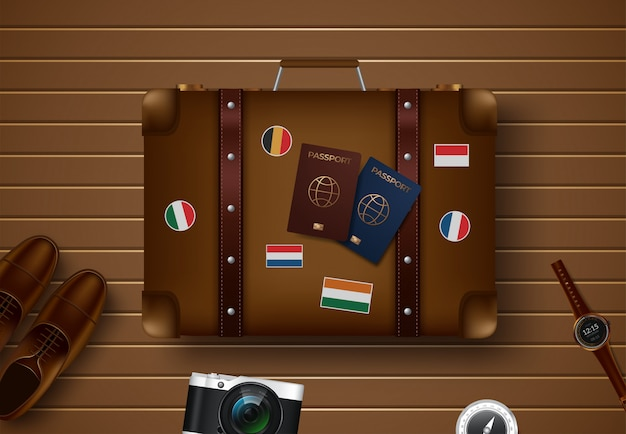 Reise- und tourismusillustration