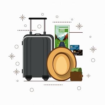 Reise- und tourismuskarikaturen