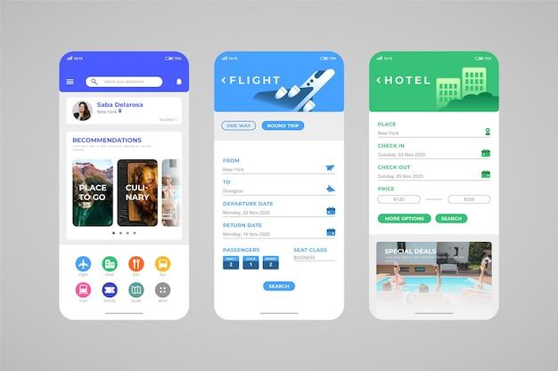 Reise- und urlaubsbuchungs-app