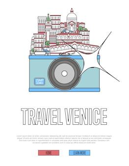 Reise-venedig-website mit kamera