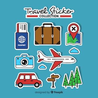 Reiseaufkleber-sammlung