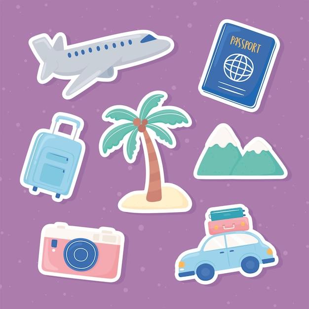 Reiseaufkleber-set