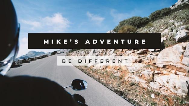 Reiseblog banner vorlage