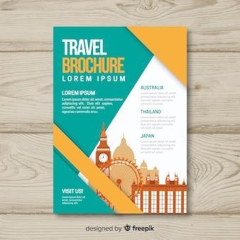 Reisebroschüre vorlage
