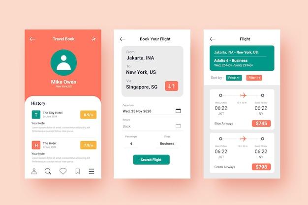 Reisebuchungs-app cconcept