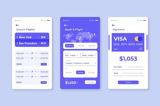 Reisebuchungs-app-konzept