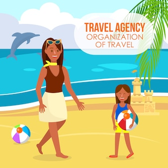 Reisebüro-farbvektor-plakat mit text-raum.