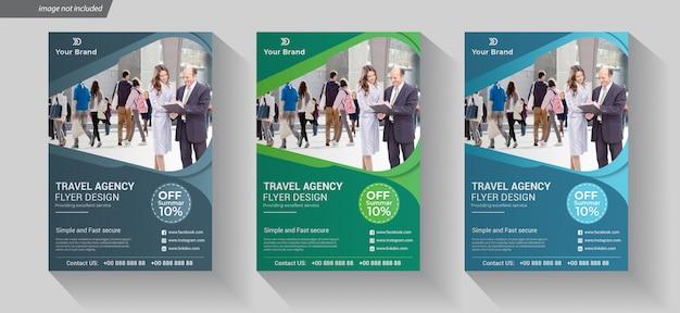 Reisebüro flyer design vorlage