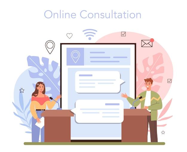 Reisebüro-services online-service oder plattform-transfer