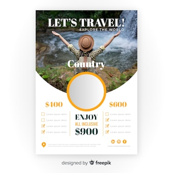 Reiseflyer vorlage mit foto