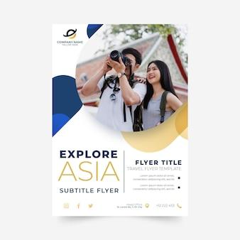 Reiseflyer-vorlage mit foto