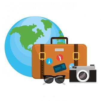 Reisegepäck-cartoon