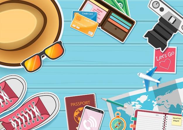 Reisekapital um weltkonzept