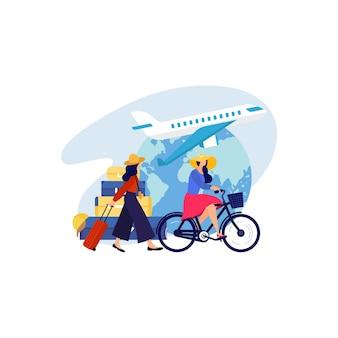 Reisekonzept illustration
