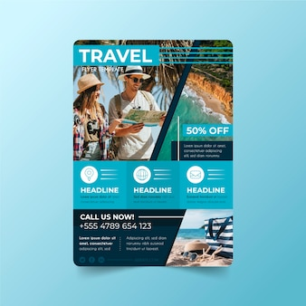 Reisekonzeptplakatdesign