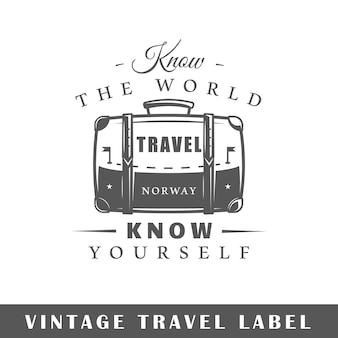 Reiselabel isoliert auf weiß