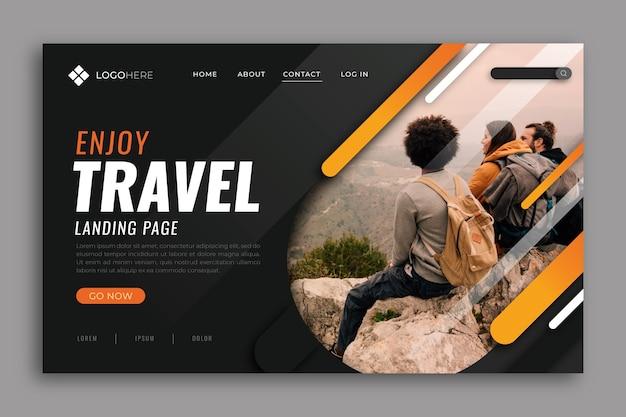 Reiselandingpage mit foto