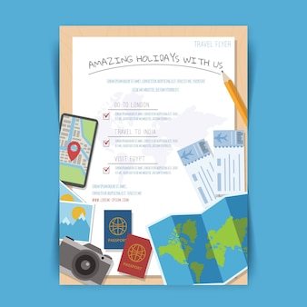 Reisematerial-flyer