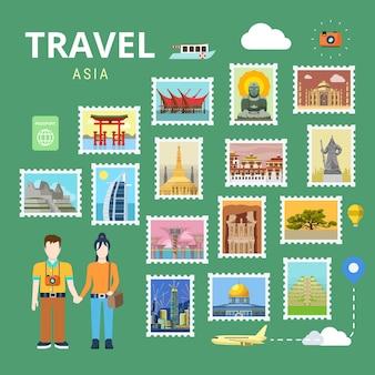 Reisen asien china japan thailand indien