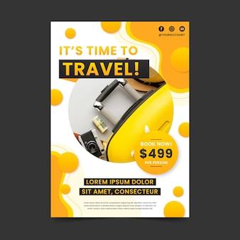Reisen bietet poster vorlage