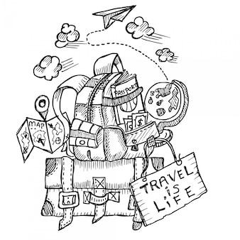 Reisen ist fife, gekritzel