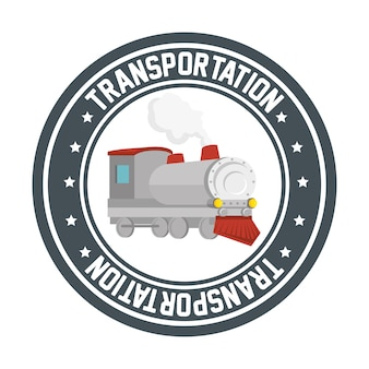 Reisen mit dem zug konzept symbol vektor-illustration design
