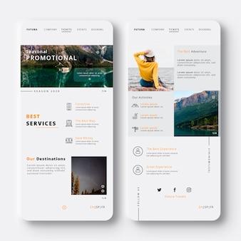 Reisen sie mit den besten services der mobilen app
