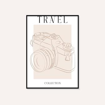 Reisen und sehenswürdigkeiten minimale illustration vektor-wand-kunst-poster-design