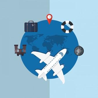 Reisen urlaub oder urlaub im zusammenhang mit ikonen bild